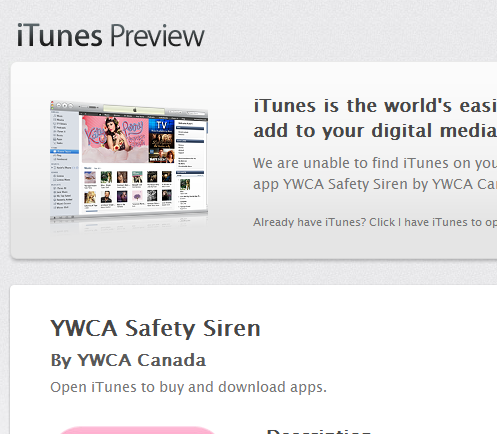 App Store - YWCA Safety Siren