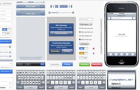 Mobile Iphone Gui