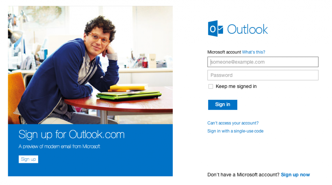 Use the new version of Hotmail - called Outlook.com