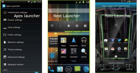 launchers-home-screen