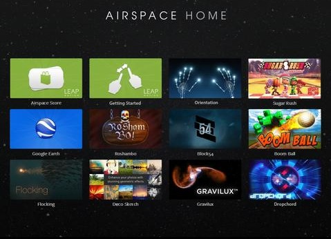 Leap Motion - Airspace home