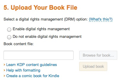 Uploading your Book
