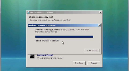 How To Restore PC From Backup