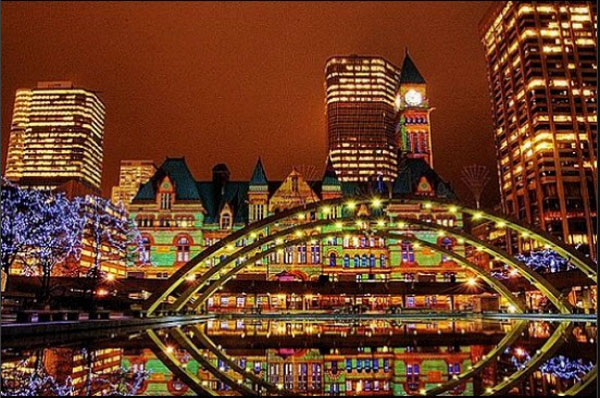 Christmas lights in Toronto