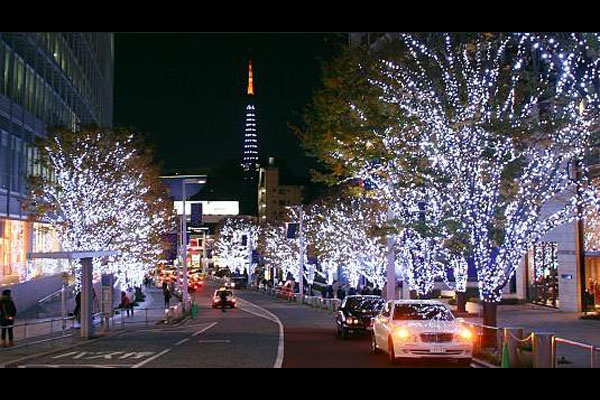 Christmas lights in Kobe