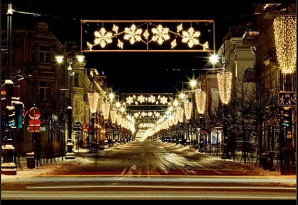 Christmas lights in Vilnius