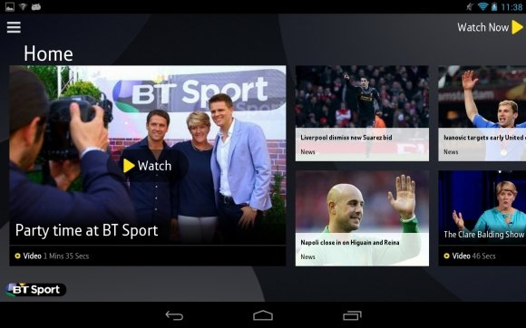 BT Sport 100 Best Android Apps to Make your Device Enterprising