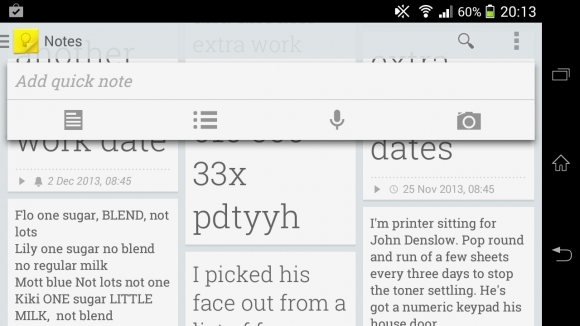 Google Keep 100 Best Android Apps to Make your Device Enterprising
