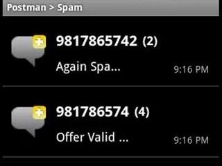 Postman: SMS Spam Blocker