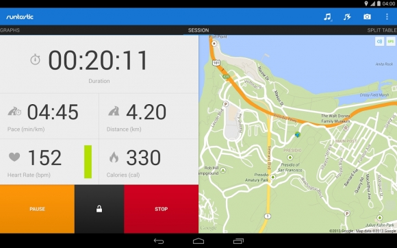 Runtastic PRO 100 Best Android Apps to Make your Device Enterprising