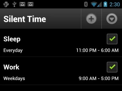 Silent Time Pro 1.99 100 Best Android Apps to Make your Device Enterprising