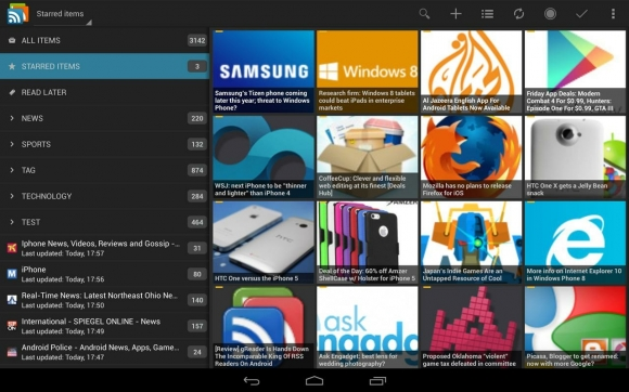gReader Pro 100 Best Android Apps to Make your Device Enterprising