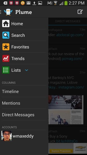 Plume for Twitter 100 Best Free Android Apps for Superusers