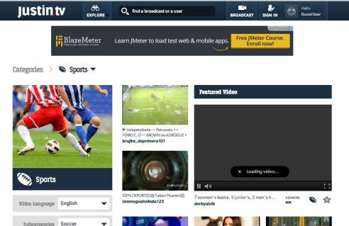 justintv e1402561173910 HOW TO   Watch FIFA World Cup 2014 Online
