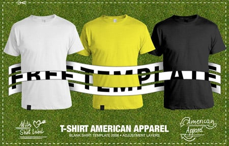American Apparel2 Download 40+ Free T Shirt Templates & Mockup PSD