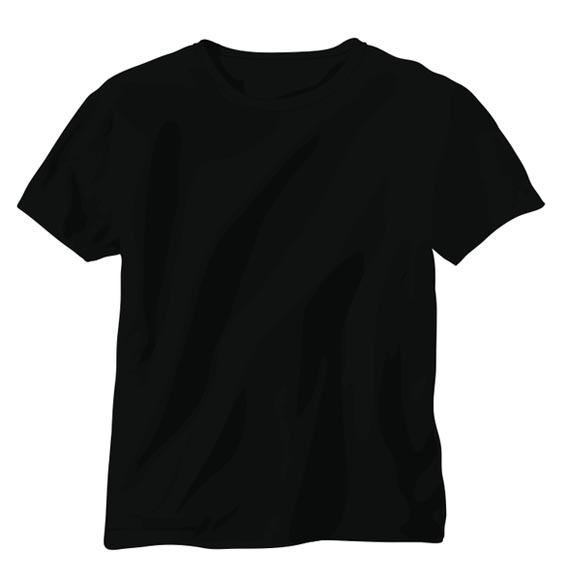 Black Vector T Shirt2 Download 40+ Free T Shirt Templates & Mockup PSD