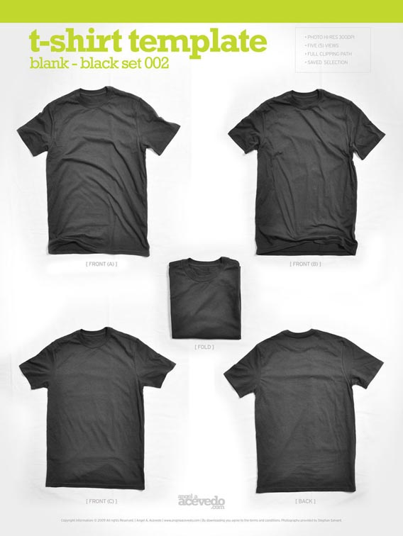 Blank T Shirt – Black2 Download 40+ Free T Shirt Templates & Mockup PSD