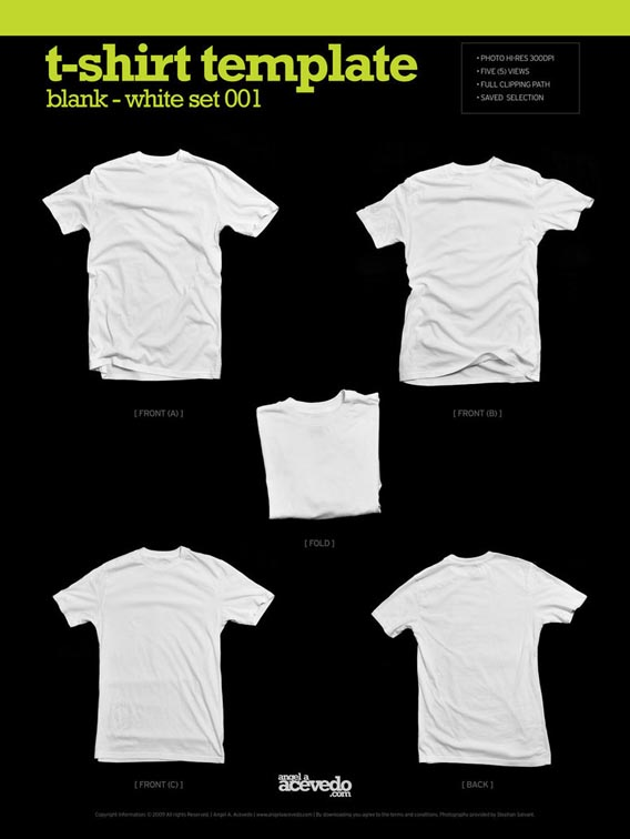 Blank T Shirt – White2 Download 40+ Free T Shirt Templates & Mockup PSD