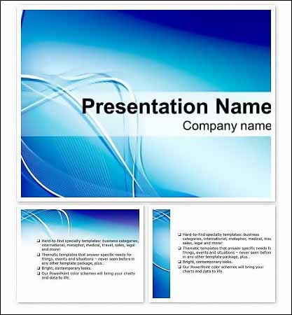 Blue Lightning Free Keynote Presentation Template