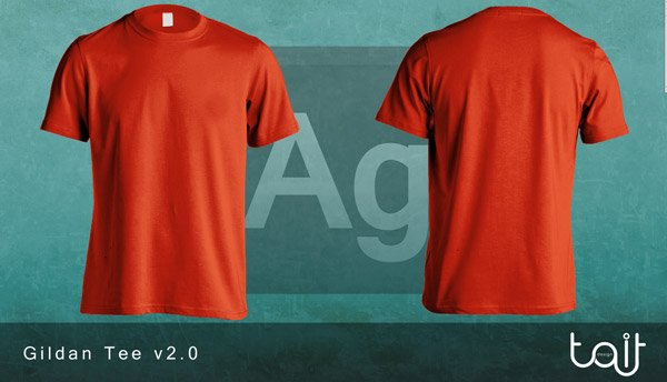 GILDAN TEE V2.0 BY THEAPPARELGUY2 Download 40+ Free T Shirt Templates & Mockup PSD