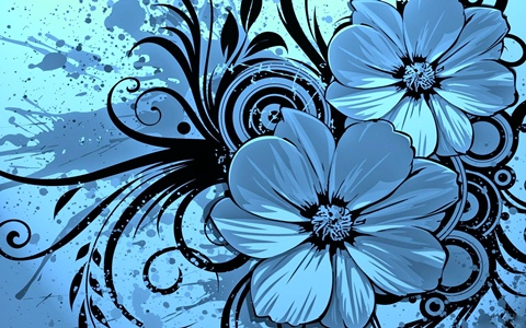 Keynote Blue Floral Theme