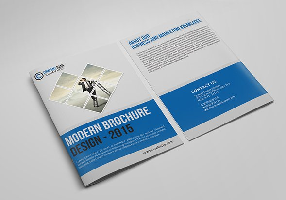Free Brochure Templates For Offline Marketing  Savedelete
