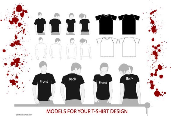 T Shirt Models2 Download 40+ Free T Shirt Templates & Mockup PSD