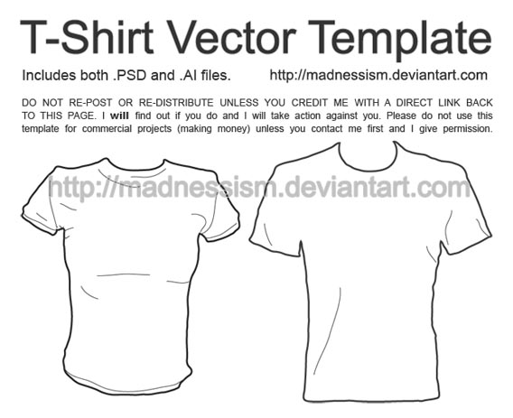 T Shirt Vector Template2 Download 40+ Free T Shirt Templates & Mockup PSD