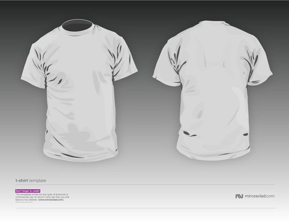 TShirt vector template V2.02 Download 40+ Free T Shirt Templates & Mockup PSD