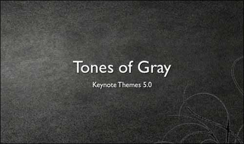 Tones of Gray Free Keynote Presentation Template