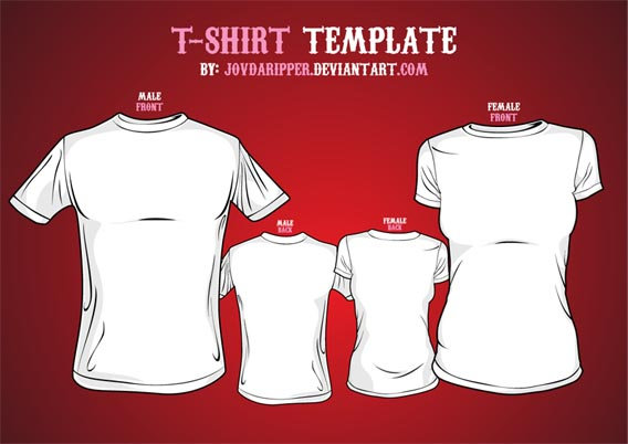 Vector T shirt Template2 Download 40+ Free T Shirt Templates & Mockup PSD