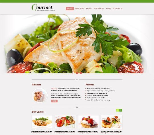 css3webtemplates - Restaurant website template