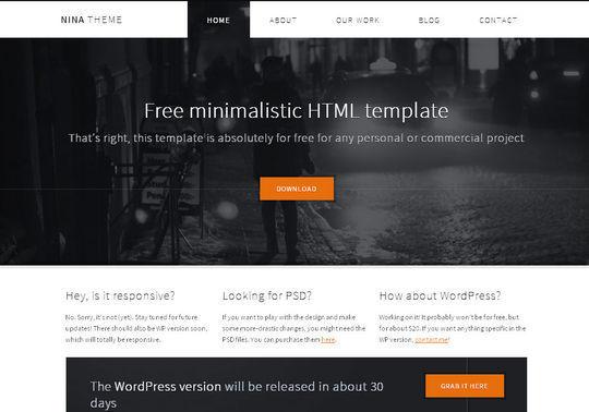 Nina HTML 5 theme