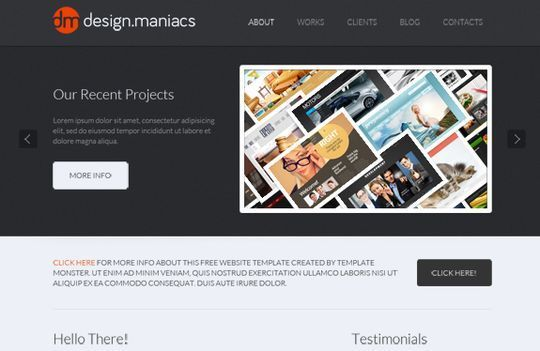 Website template for design studio