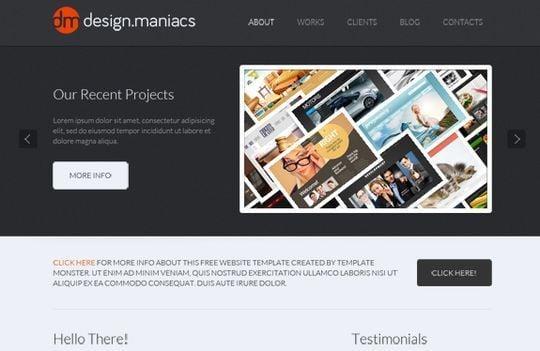 Website template for design studio
