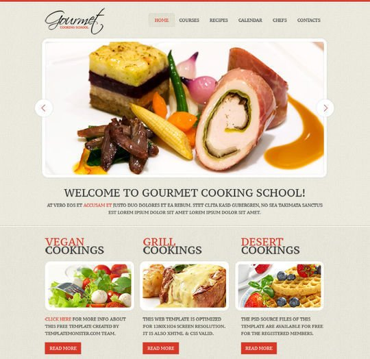 Tasty looking skin for culinary site