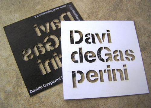 davide gasperini 52 Most Creative Business Cards That Will Attract your Customers