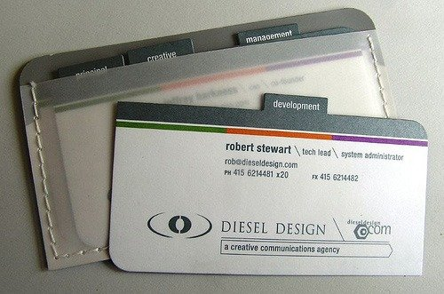 diesel design 52 Most Creative Business Cards That Will Attract your Customers