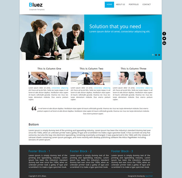 drupal themes corporate clean