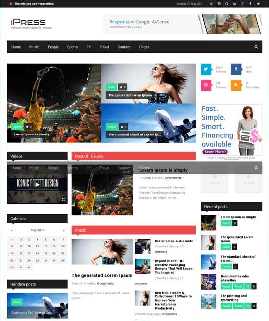 75 Best Free Premium Drupal Themes Of 2014