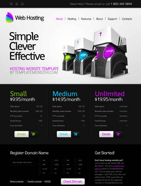 Free web hosting domain sales mobile iphone and web templates.