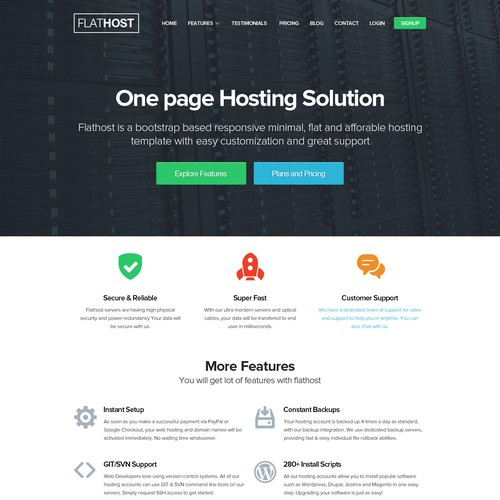 52 best free premium web hosting website templates savedelete
