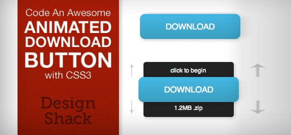 Animated Download Button With CSS3