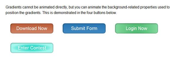 Animating CSS3 Gradients