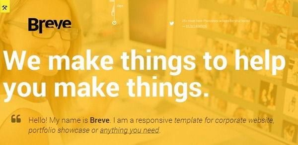 Breve Responsive Coming Soon Page