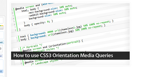 How to use CSS3 Orientation Media Queries