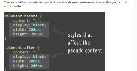 Learning the :before and :after pseudo classes
