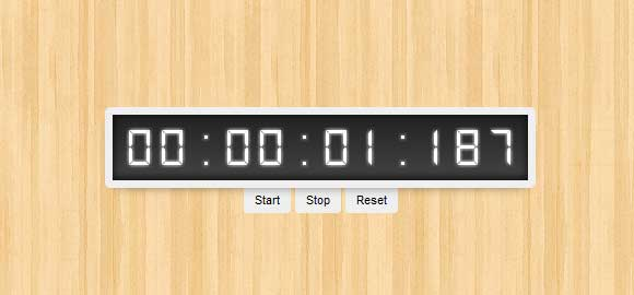 Make A Stopwatch Using CSS3 Without Images & Javascript