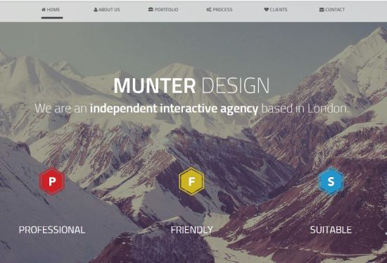 Munter Bootstrap Template