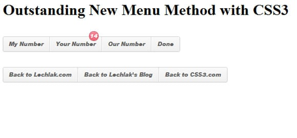 New Menu Method with CSS3